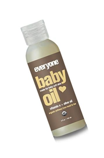 Everyone Soft Skin Organic Baby Oil with Natural Vitamin E and Olive Oil, 6 Count