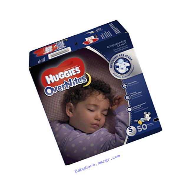 Huggies OverNites Diapers, Size 5, 50 ct., Overnight Diapers