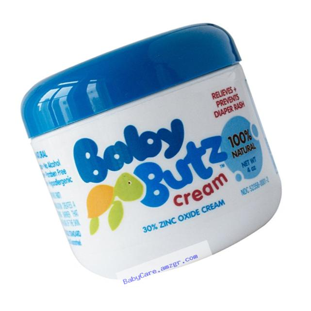 Baby Butz - 100% Natural Diaper Rash Cream - 4oz